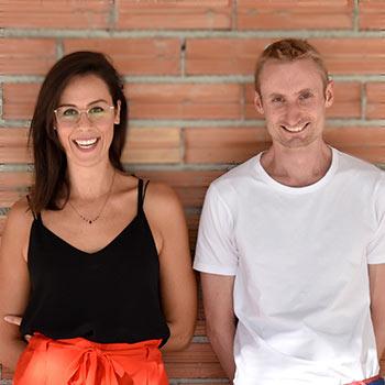 L'équipe KAZARTT : Guillaume Loiseau and Amandine Leman