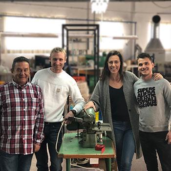 El equipo de KAZARTT en nuestro taller de Alicante