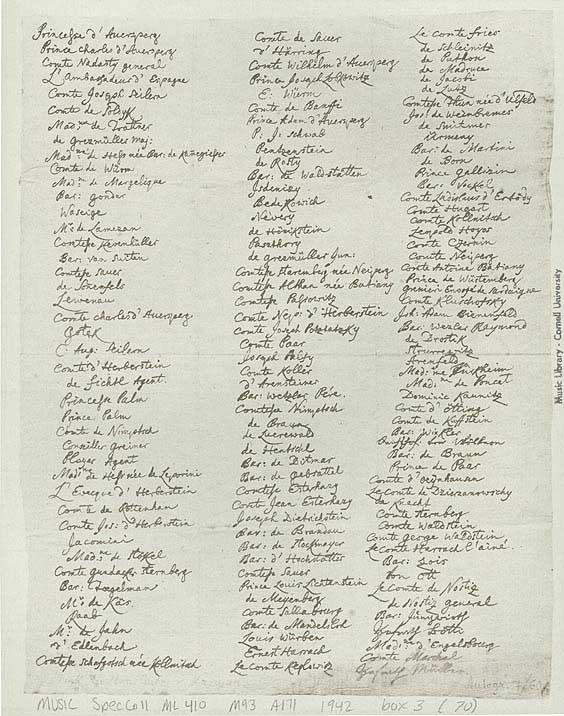 Liste inscrit concert Mozart Crowdfunding