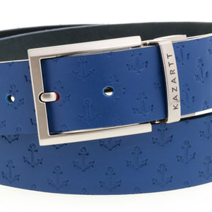 Evasion Blue Leather Belt