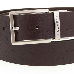 Evasion Brown Leather Belt