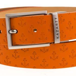 Evasion Orange Leather Belt