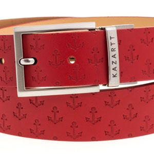 Evasion Red Leather Belt