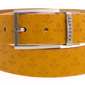 Evasion Yellow Leather Belt
