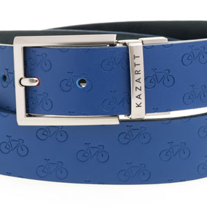 Determination Blue Leather Belt