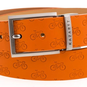 Determination Orange Leather Belt