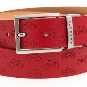 Determination Red Leather Belt
