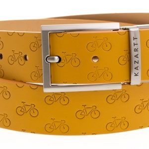 Determination Yellow Leather Belt