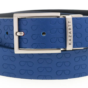 Focus Blue Leather Belt