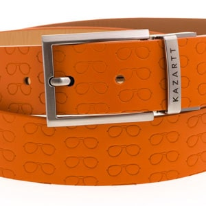 Focus Orange Leather Belt