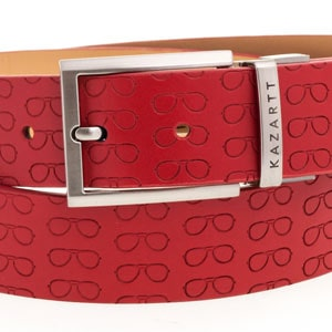 Focus Red Leather Belt