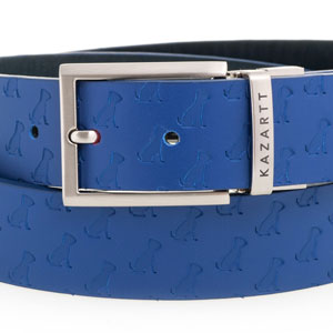 KAZARTT Blue leather belt