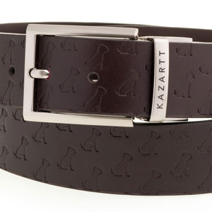 KAZARTT Brown leather belt