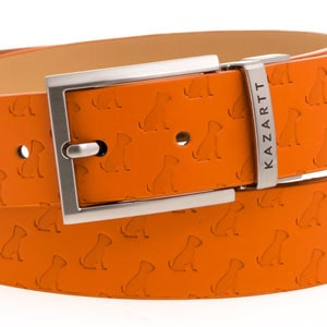 KAZARTT Orange leather belt