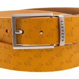 kazartt yellow leather belt