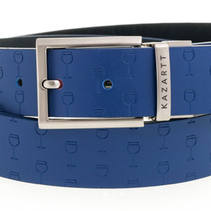 Optimism Blue Leather Belt