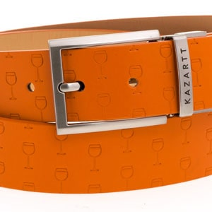 Optimism Orange Leather Belt