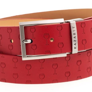 Optimism Red Leather Belt