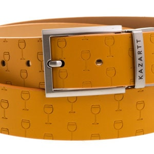 Optimism Yellow Leather Belt